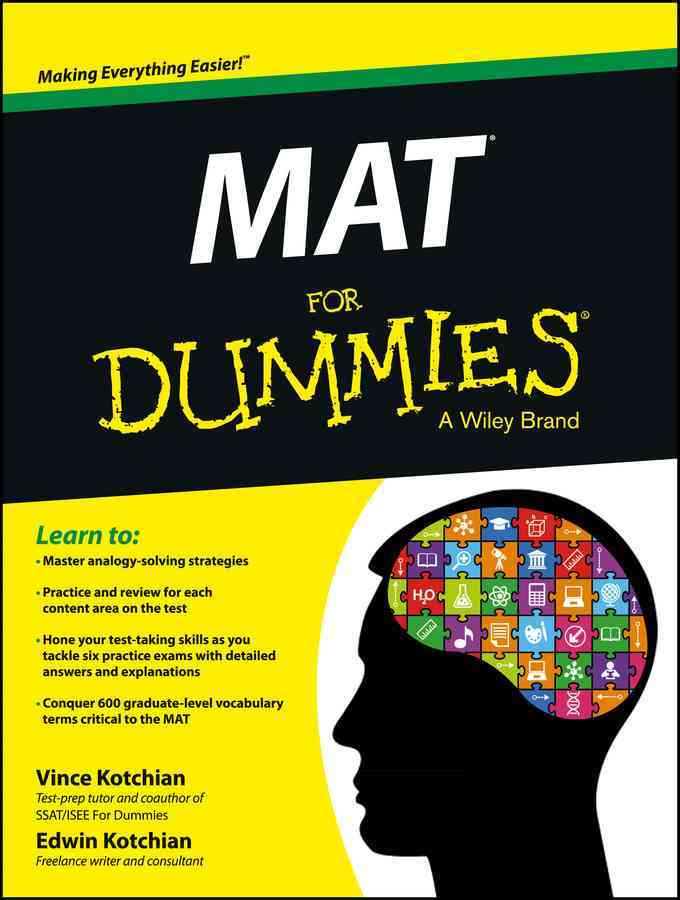 MAT for Dummies By Kotchian, Vince